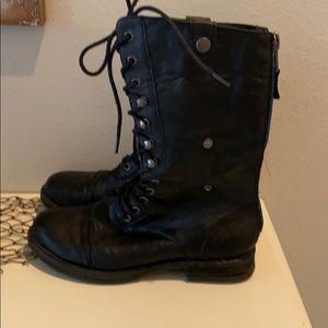 Steve Madden Zorrba Combat Boots Black